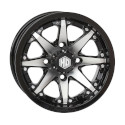 12x7 4/110 2+5 HD10 Gloss Black and Machined