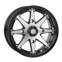 14x7 4/110 5+2 HD10 Gloss Black and Machined