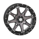 14x7 4/110 5+2 HD10 Matte Black / Smoke