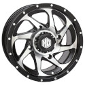 14x7 4/110 5+2 HD8 Matte Black / Machined