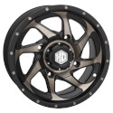 14x7 4/137 5+2 HD8 Matte Black / Gray