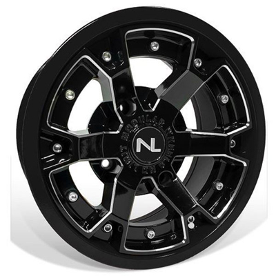 Deuce Wheel, 14x7, 4/156, Gloss Black & Gloss Black