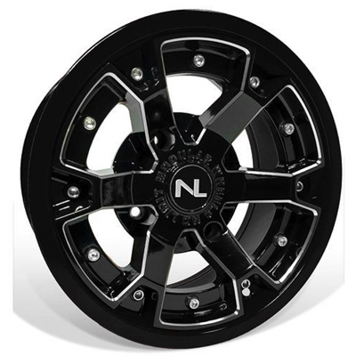 Deuce Wheel, 14x7, 4/137, Gloss Black & Matte Black