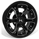 Deuce Wheel, 14x7, 4/110, Gloss Black & Gloss Black