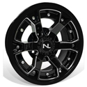 Deuce Wheel, 14x7, 4/110, Gloss Black & Matte Black