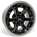 Deuce Wheel, 14x7, 4/110, Gloss Black & Silver