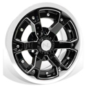 Deuce Wheel, 14x7, 4/110, Gloss Black & White