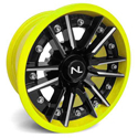 Storm Wheel, 14/7, 4/156, Gloss Black & Lime Squeeze