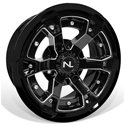 Deuce Wheel, 15x7, 4/110, Gloss Black & Gloss Black