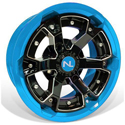 Deuce Wheel, 15x7, 4/110, Gloss Black & Octane Blue
