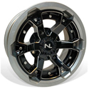 Deuce Wheel, 15x7, 4/110, Gloss Black & Silver