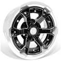 Deuce Wheel, 15x7, 4/110, Gloss Black & White