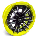 Storm Wheel, 15/7, 4/156, Gloss Black & Lime Squeeze