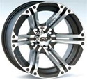 12x7, 4/137, 5+2 ITP SS212 Alloy Machined Wheel F/R - Mule/Teryx