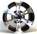 12x7, 4/110, 2+5 ITP SS112 Alloy Machined Wheel Rear