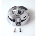 MotoSport Alloys Chrome Cap with Chrome Star