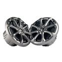 "AudioFormz Kicker Graphite 6.5"""" Marine Speaker Upgrade (2 pair) for RZR/Ranger/Commander Tops with 6.5"""" Cutouts"