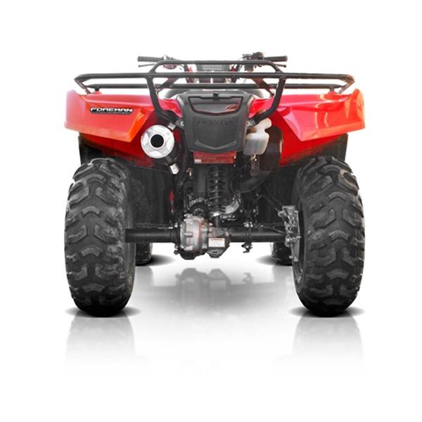 hmf exhaust titan series xl slip on single canister for honda 500 foreman 420 rancher