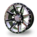 No Limit 14x6 4/137 Octane Positive Wheel in Gloss Black