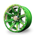 No Limit 14x6 4/137 Octane Positive Wheel in Lime Green