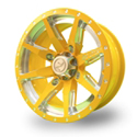 No Limit 14x6 4/137 Octane Positive Wheel in Yellow