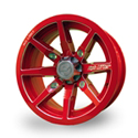 No Limit 14x8 4/156 Octane Tracer Wheel in Polaris Indy Red
