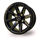 No Limit 14x6 4/110 Octane Tracer Wheel in Gloss Black