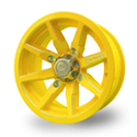 No Limit 14x8 4/137 Octane Tracer Wheel in Yellow
