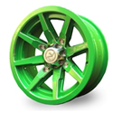 No Limit 14x6 4/137 Octane Tracer Wheel in Lime Green
