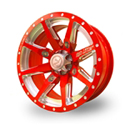 No Limit 14x8 4/156 Octane Positive Wheel in Polaris Indy Red