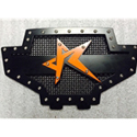 Rogue Offroad RZR 570/800 Grill - Black/Black/Orange