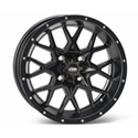 14 x 7, 4/110, 2+5, (Hurricane) Wheel, Rear, Matte Blk