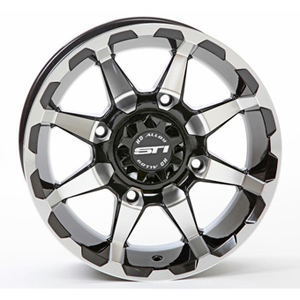 STI - 12 x 7 4/110 5+2 STI (HD6 Machined with Gloss Black)