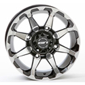 STI - 12 x 7 4/110 2+5 STI (HD6 Machined w/Gloss Black)