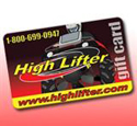 High Lifter Gift Card