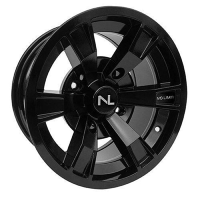 Intimidator Wheel, 15x7, 4/137, Gloss Black & Black