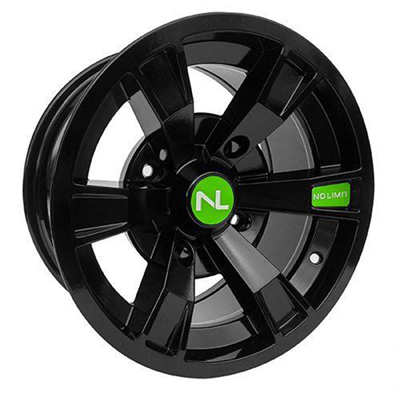 Intimidator Wheel, 14x7, 4/156, Gloss Black & Green