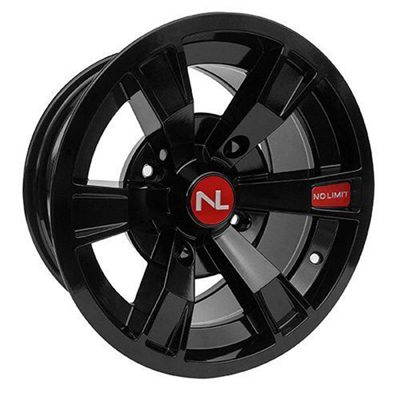 Intimidator Wheel, 14x7, 4/156, Gloss Black & Solar Red