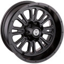 Moose 399 X Matte Black Wheel 14x7 4/110 4+3