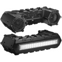Bluetooth Amplified All-Terrain Sound System Features LED Light Bar, Large Front Storage Compartment and 8'' Marine Speakers and 1.5'' Weatherproof Tw