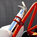 "1.5"" - 1.75"" QR Fire Extinguisher Mount Red"