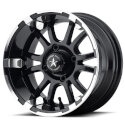 FA123 4/4 10x7 Prestige Machined Golf Cart Wheel