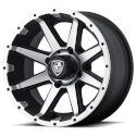FA136 4/4 14x6.5 Rebel Machined Golf Cart Wheel