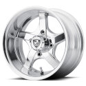 FA137 4/4 12x6 Rallye Polished Golf Cart Wheel