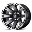 FA143 4/4 12x7 Rage Golf Cart Wheel