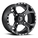 ASSAULT 4/110 14x7 4/3 MATTE BLACK MILLED WHEEL