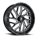 20x7 4/137 4-3 Triton Gloss Black and Milled Wheel