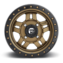 ANZA NON-BEADLOCK 4/137 15x7 4/3 MATTE BRONZE CENTER / BLACK RING WHEEL