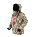 Women's Waterproof 1/2 Zip Bog 2.0 Hoodie - Leopard & Red
