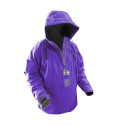 Women's Waterproof 1/2 Zip Bog Hoodie - Purple & Grey